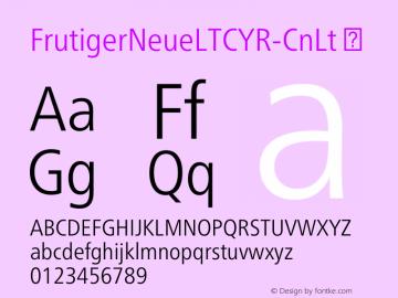 FrutigerNeueLTCYR-CnLt