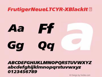 FrutigerNeueLTCYR-XBlackIt