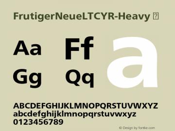 FrutigerNeueLTCYR-Heavy
