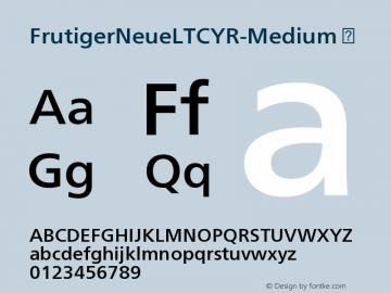 FrutigerNeueLTCYR-Medium
