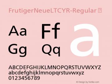 FrutigerNeueLTCYR-Regular