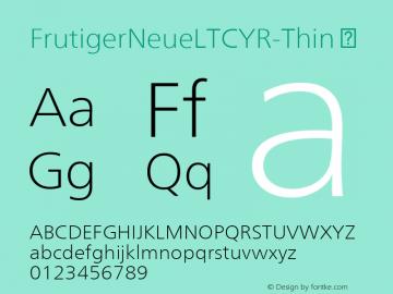 FrutigerNeueLTCYR-Thin