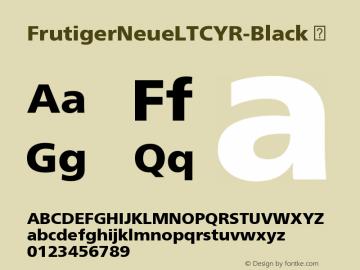 FrutigerNeueLTCYR-Black