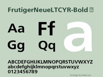 FrutigerNeueLTCYR-Bold