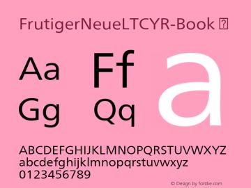 FrutigerNeueLTCYR-Book