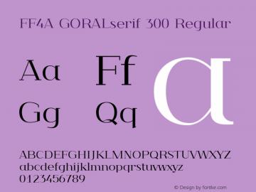FF4A GORALserif 300