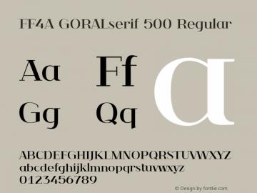 FF4A GORALserif 500