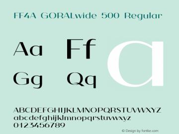 FF4A GORALwide 500