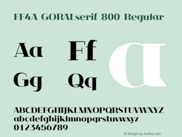 FF4A GORALserif 800