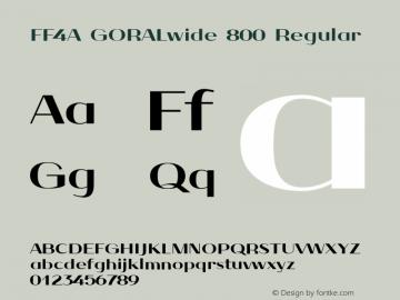 FF4A GORALwide 800