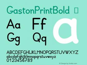 GastonPrintBold