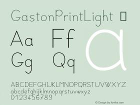 GastonPrintLight