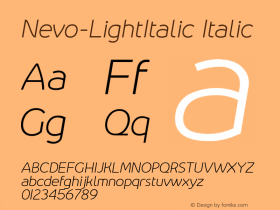 Nevo-LightItalic