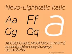 Nevo-LightItalic