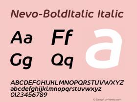 Nevo-BoldItalic