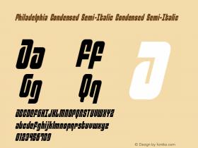 Philadelphia Condensed Semi-Italic