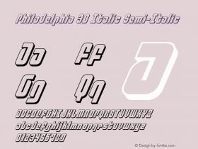 Philadelphia 3D Italic