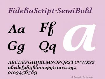 FideliaScript-SemiBold