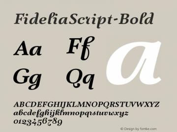 FideliaScript-Bold