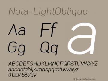 Nota-LightOblique