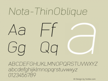 Nota-ThinOblique