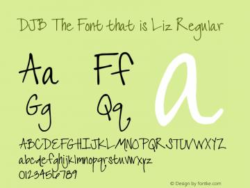 DJB The Font that is Liz