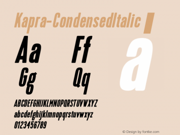 Kapra-CondensedItalic