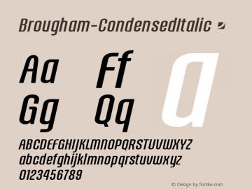 Brougham-CondensedItalic