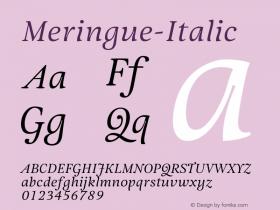 Meringue-Italic