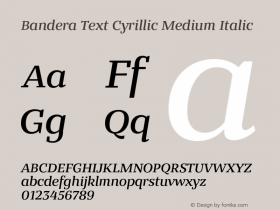 Bandera Text Cyrillic Medium