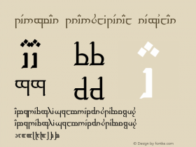 Tengwar Transliteral