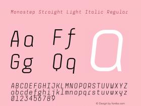 Monostep Straight Light Italic