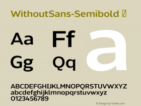 WithoutSans-Semibold