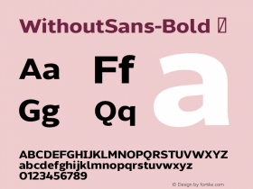 WithoutSans-Bold