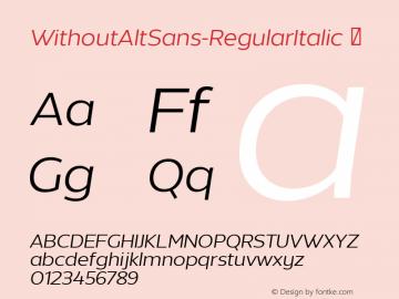 WithoutAltSans-RegularItalic