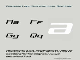 Concielian Light Semi-Italic