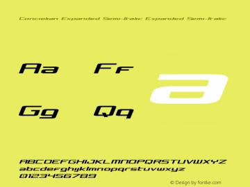 Concielian Expanded Semi-Italic