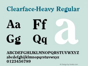 Clearface-Heavy