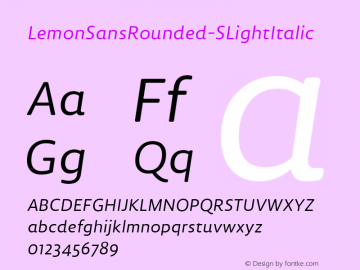 LemonSansRounded-SLightItalic