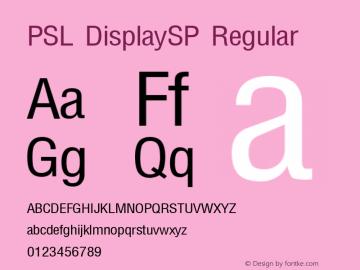 PSL DisplaySP