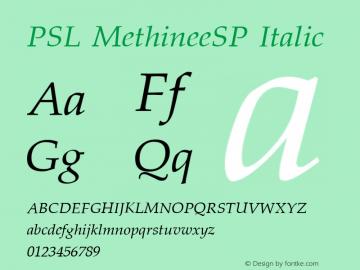 PSL MethineeSP