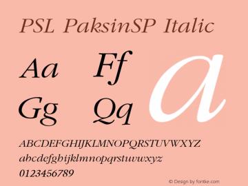 PSL PaksinSP