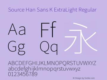 Source Han Sans K ExtraLight