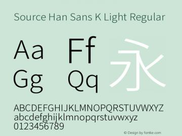 Source Han Sans K Light