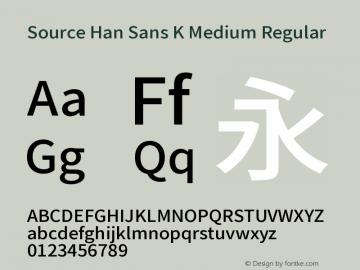 Source Han Sans K Medium