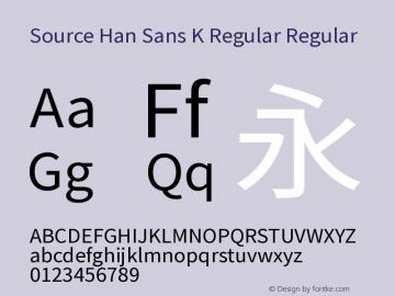 Source Han Sans K Regular
