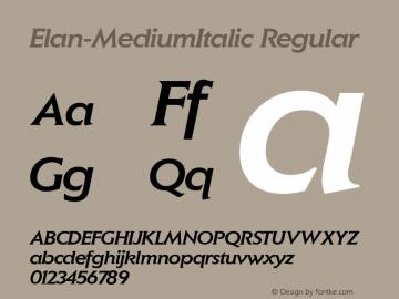 Elan-MediumItalic