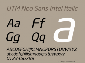 UTM Neo Sans Intel