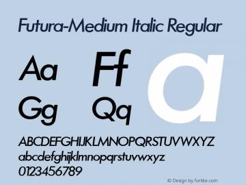 Futura-Medium Italic