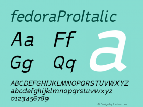 fedoraProItalic